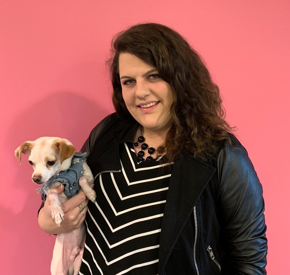"""Evia's new Event Project Manager, Jessica Tate, and her """"assistant"""" Pico"""
