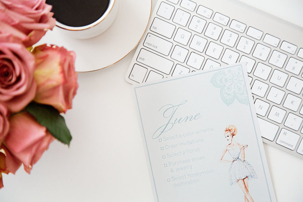 "Custom Monthly ""Task Lists"" for the Bride"