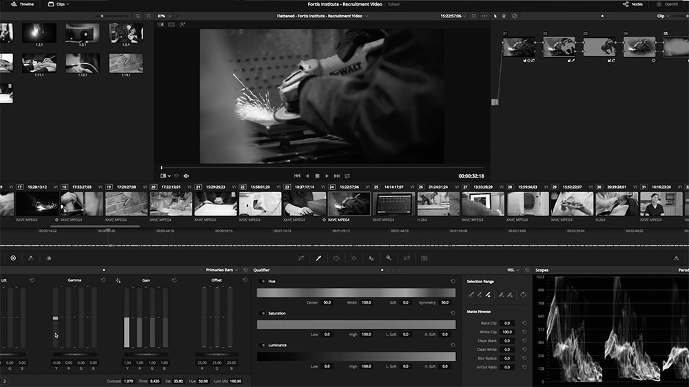 Post Production - Our experienced editorial post-production team shapes your story