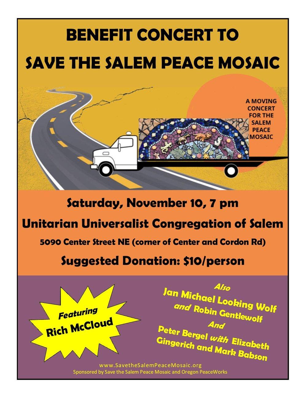 BENEFIT CONCERT TO SAVE THE SALEM PEACE MOSAIC