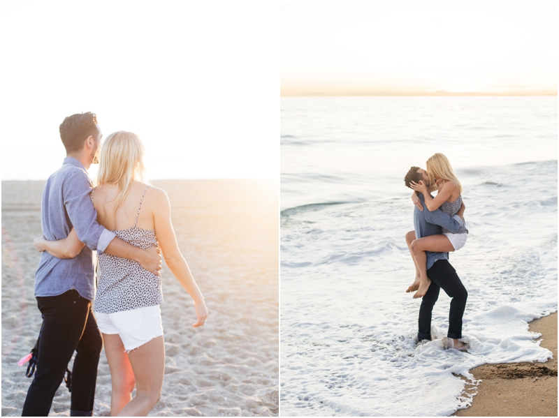 golden hour engagement session in newport beach