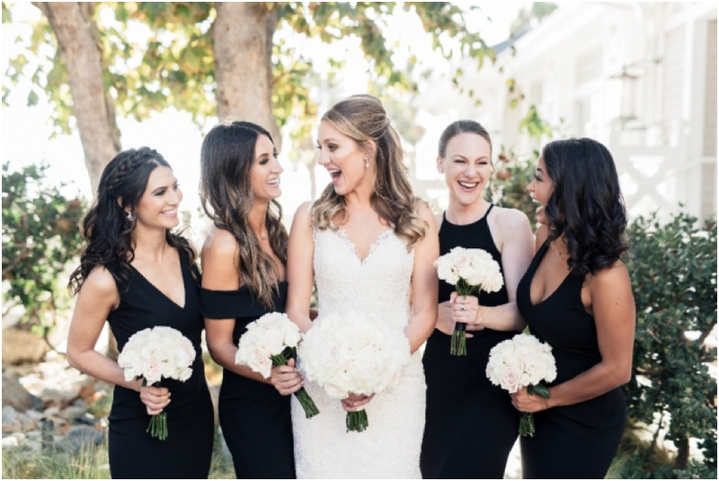 beautiful bride and her bridesmaids at Shutters on the Beach