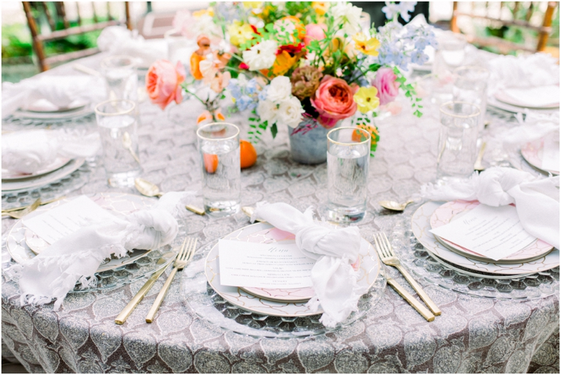 perfect tabletop decor of a spring luncheon