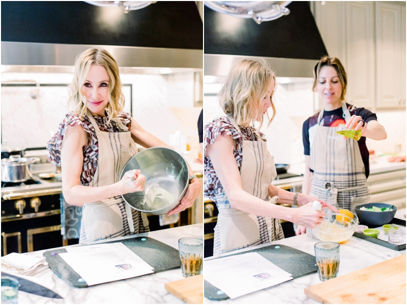 Lisa making lunch for her guests at the farm girl kitchen