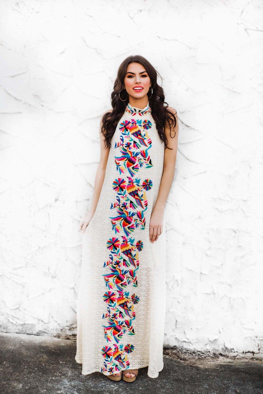 8c6c6ea9718e Judith March Crochet Halter Maxi Dress — The Gilded Garment