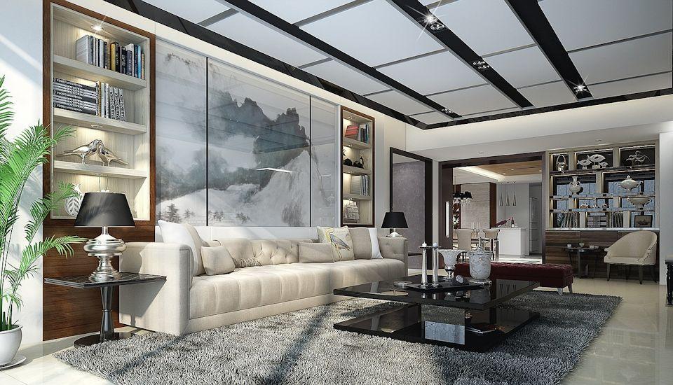 Upscale living room
