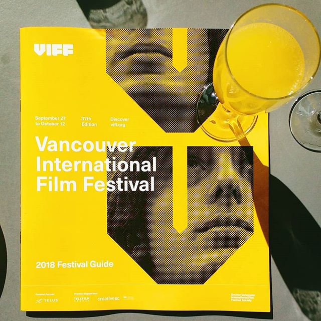 @viffest guide and mimosas at #viff2018 press launch 😍 Feeling fancy ✨ . . . . #viff #viffest #filmfestival #film #filmmaking #filmmaker #orange  #cinemtography #cinema #femalefilmmakers #drinks #guide #vancouver #yvr #vancity