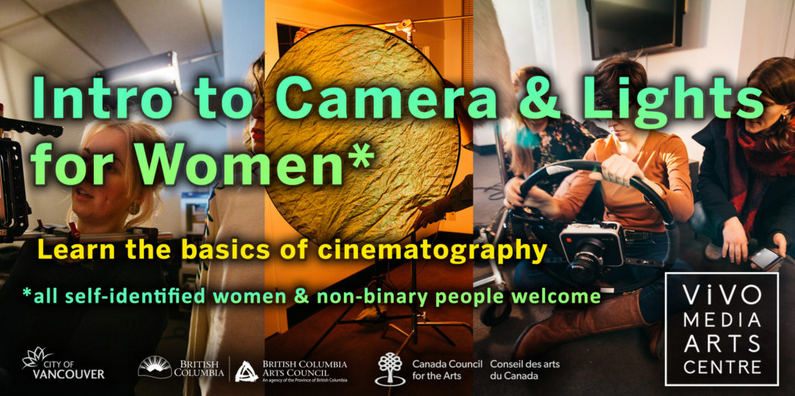 Learn all about the basics of cinematography at my new workshop for women and non-binary folks!