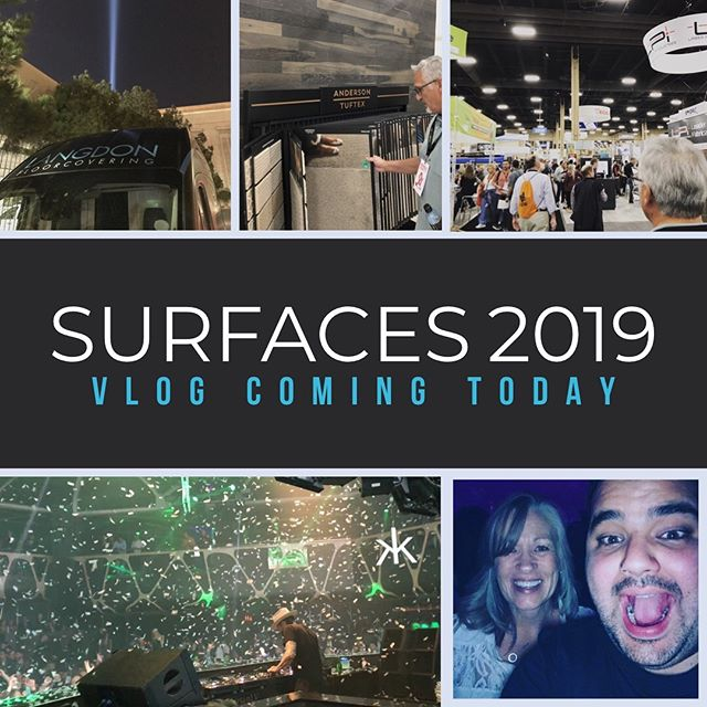 Our #vlog from the @tiseevents convention in Vegas is dropping today! It's a big one. . . . . #InteriorDesign #Flooring #Vinyl #Laminate #Carpets #Wood #LVP #Rugs #Tile #Stone #Ceramic #Grout #Hardwood #HomeDecor #contractor #NewFloors #Remodel #FlipHouse #realtor #realestate #shawcarpets #kitchen #livingroom #newhome #wehavekeys #movingin