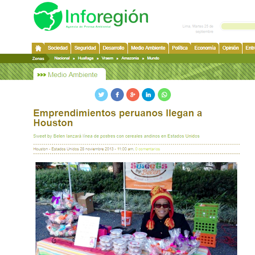 Emprendimientos peruanos llegan a Houston ! -