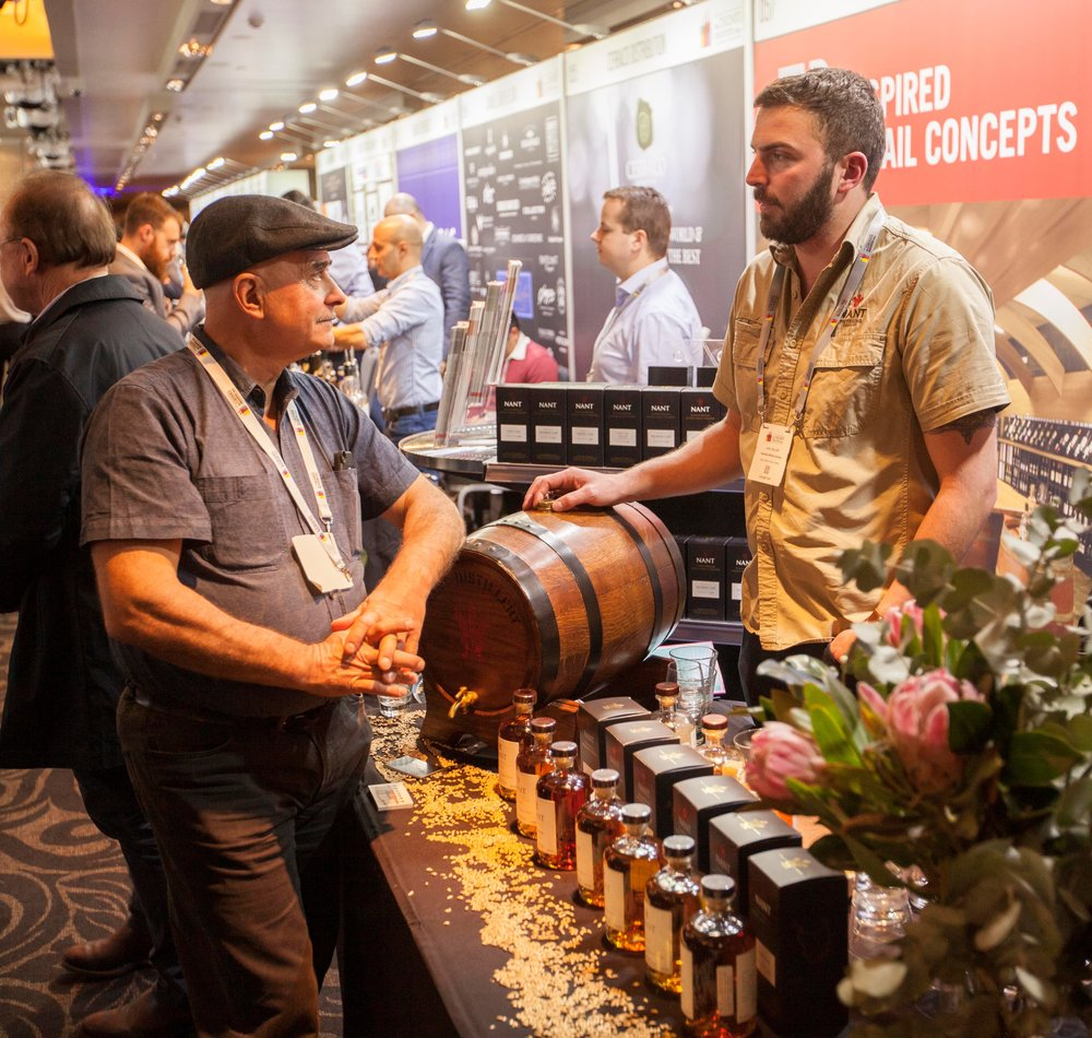 Head Distiller Jack Sellers at the trade show