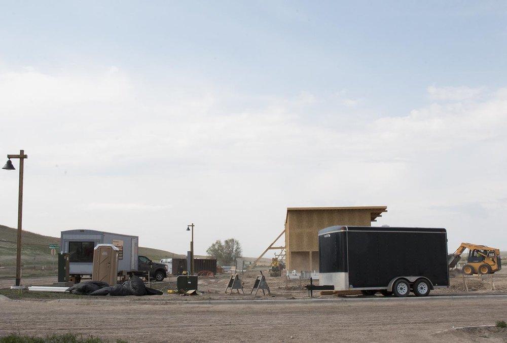 Construction at Thunder Valley.