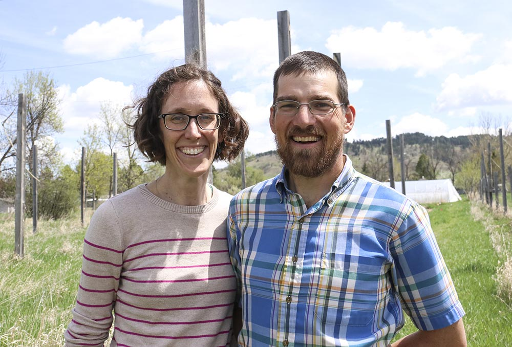 Trish Jenkins and Jeremy Smith at Cycle Farm in Spearfish, South Dakota.