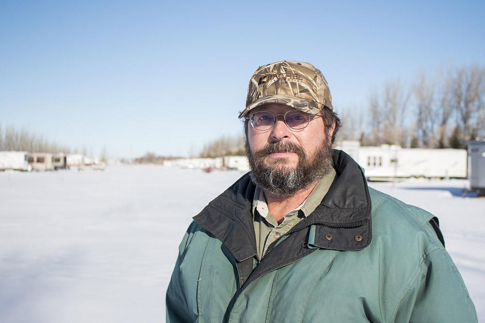 Rick Schwab at Six Mile Bay on Devils Lake.
