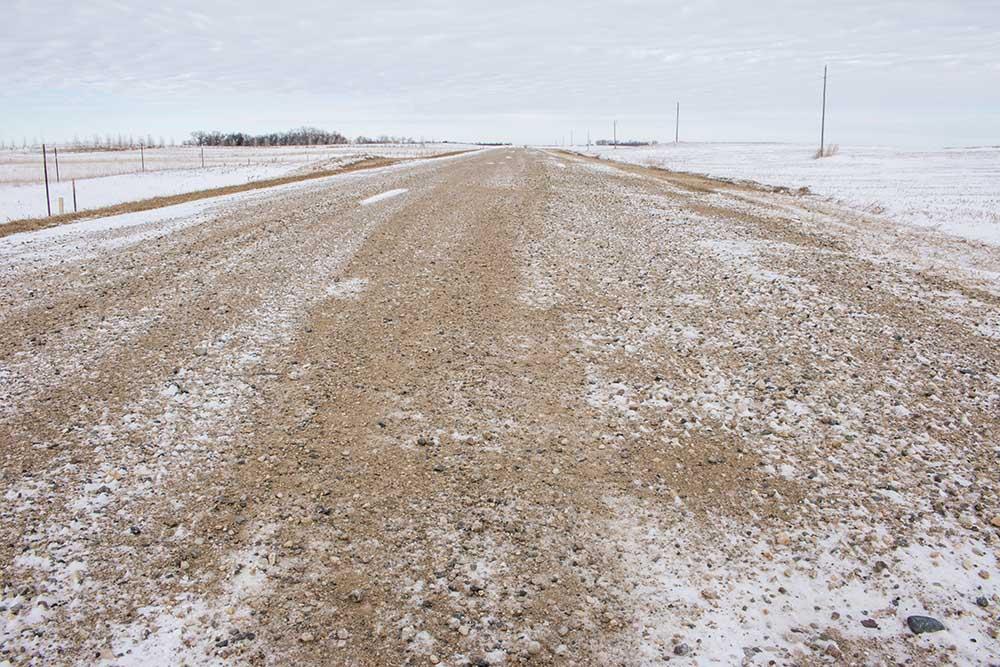 Gravel roads in Pelican Lake Township.