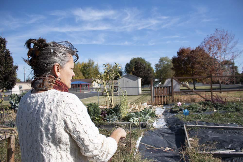Ellen at the La Grande Community Garden.