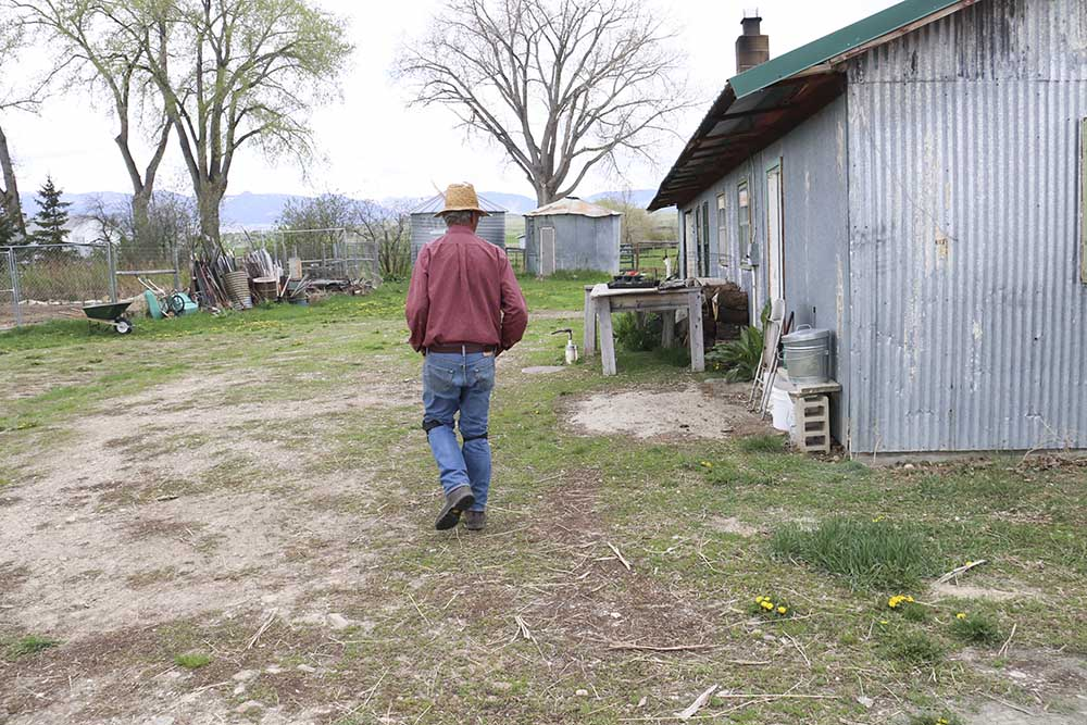 Tom at his home in Sheridan, Wyoming.