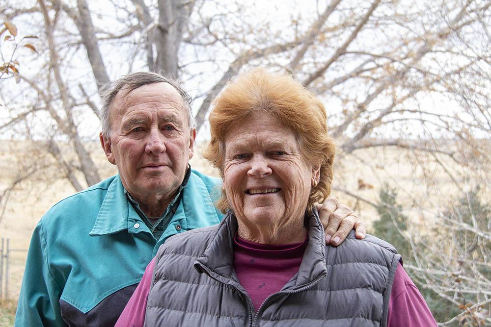 LJ and Karen Turner at the Turnercrest Ranch.