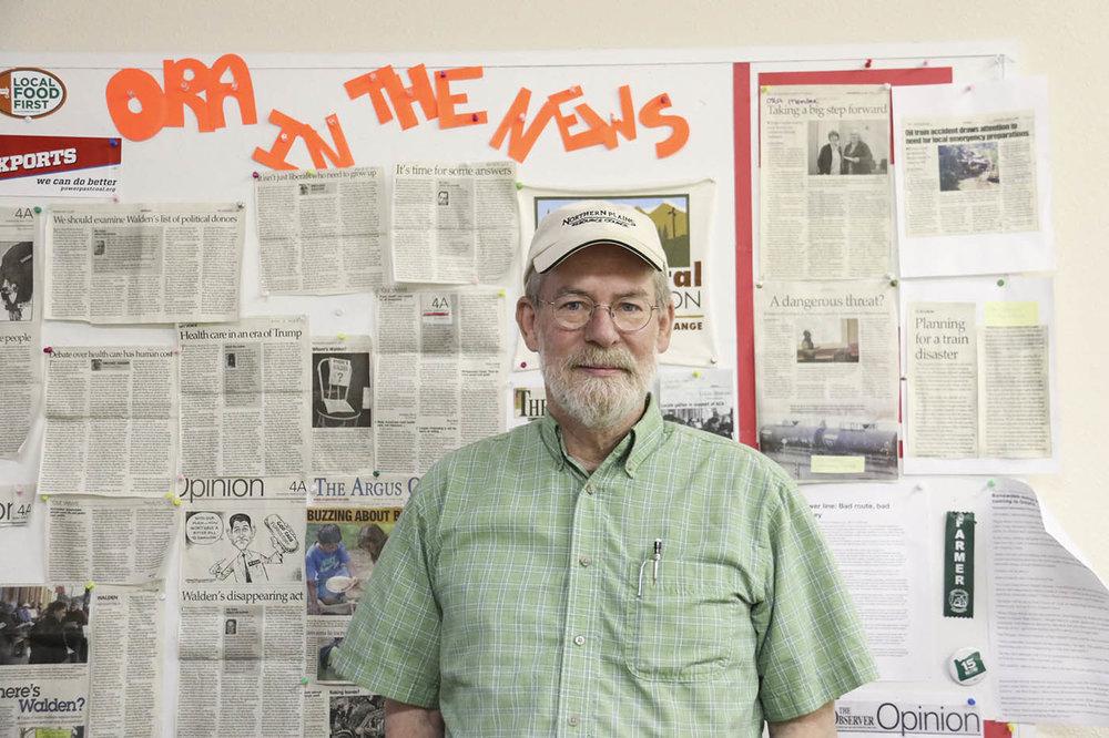 Former Department of Environmental Quality Acting Administrator Eastern Region, Mitch Wolgamott, at Oregon Rural Action office in La Grande, Oregon.