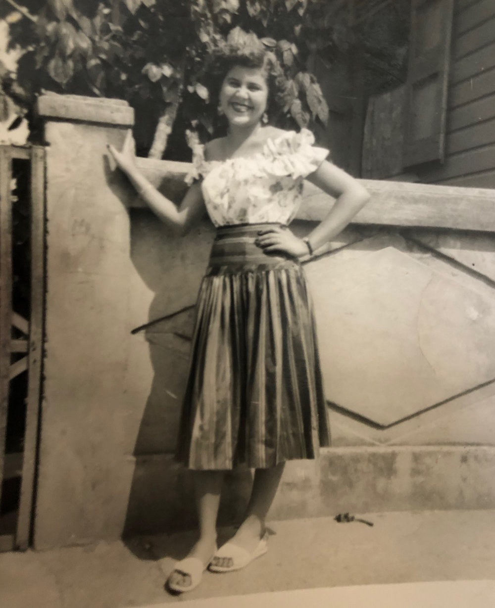 Abuela crucita who cooked to nourish and please  puerto Rico (1950's)