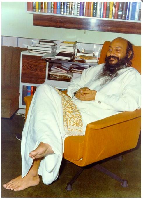 Bhagwan in his Bombay apartment