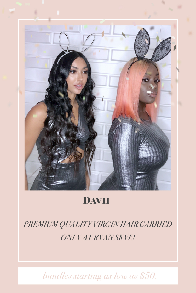 Diamond Affair Virgin Hair is our in store Brazilian brand. Which can also be purchased online at  www.davhair.com