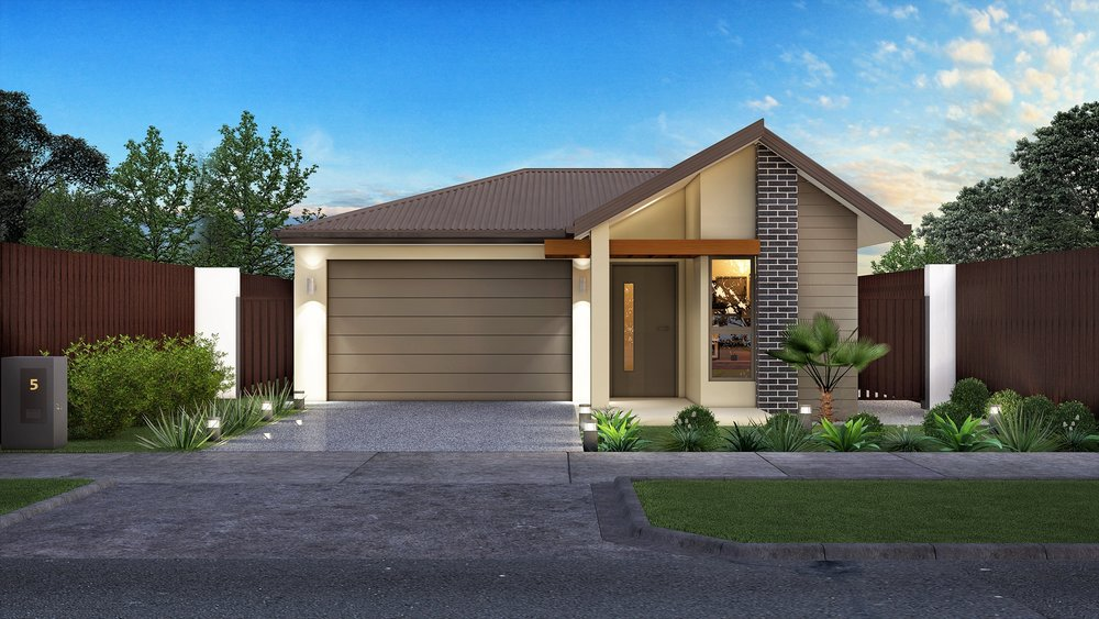 The Aurora - 3 Bed | 2 Bath | 1 Car Garage10m Traditional Lots