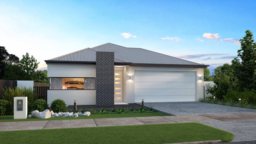 The Olympia - 3 Bed   2 Bath   Theatre Room   2 Car Garage12.5m Traditional Lots
