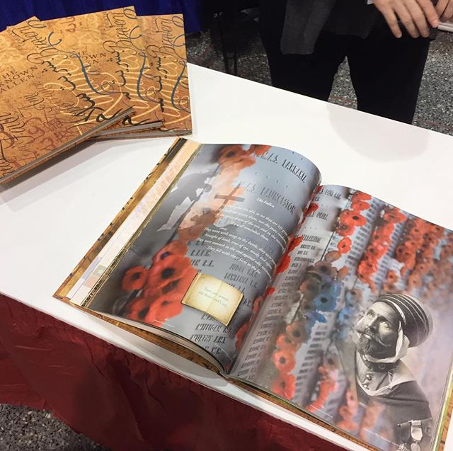 "We're having a wonderful time meeting new people who are enjoying our book ""The Unknown Fallen"" at the MAS ICNA Convention in Chicago!  @masicna  #unknownfallen #muslimsinww1 #masicnaconvention #masicna2018 #history #theunknownfallen #historybook"