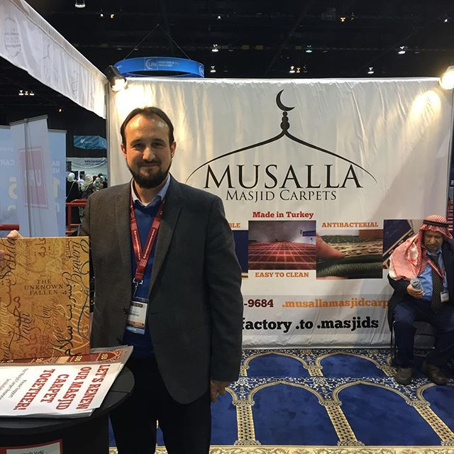 Loved being neighbors with @musallamasjidcarpets during the confernce. Great neighbors and students of history. #history #historicalart #togetherness #ww1