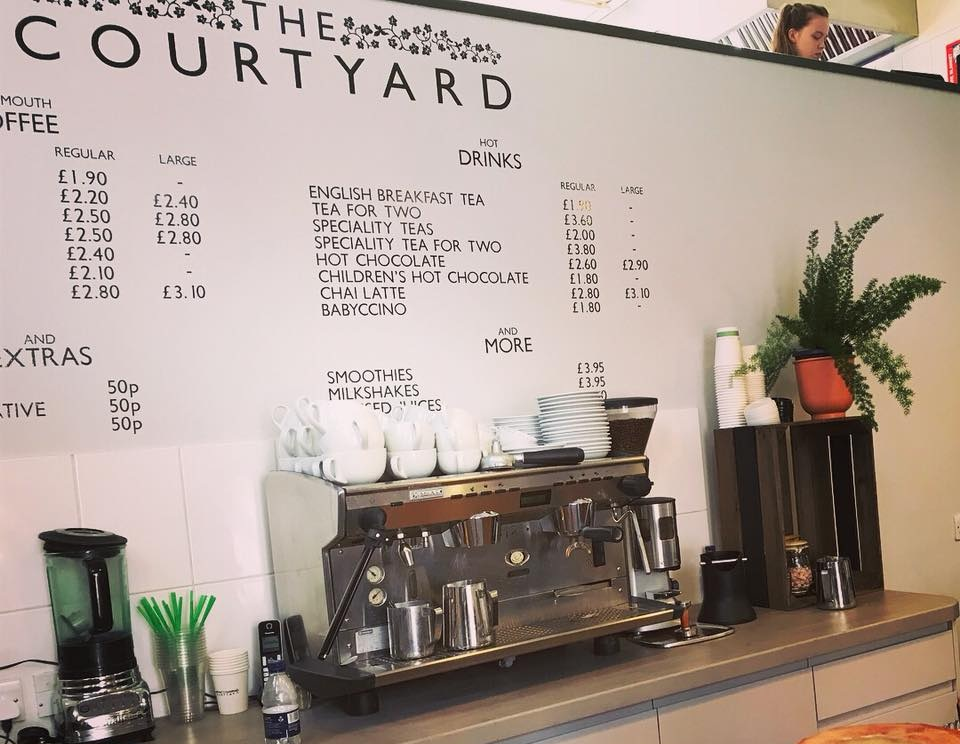The Courtyard Cafe - The Courtyard Cafe has a focus on breakfast, mouth-watering lunch dishes, scrumptious cakes and of course the superb Monmouth Coffee!