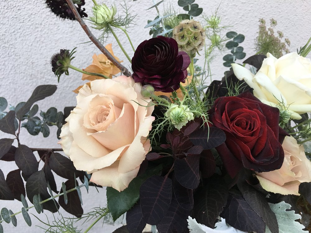 August wedding flowers detail