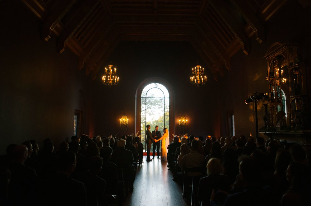 Lorie & Adam's ceremony at The Paramour Estate- Photo by Rainbeau Tharp