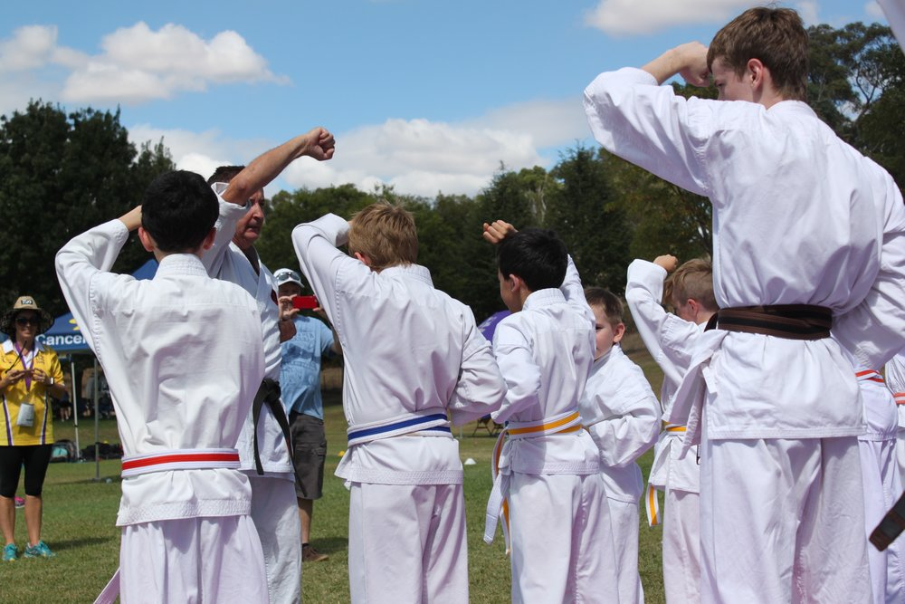 Students of the Yass Dojo Supporting the Cancer Councils Relay for Life
