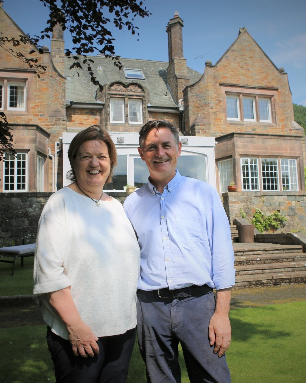 The Owners - We are John and Sylvia. Windlestraw is our home and our dream and we invite you to share.
