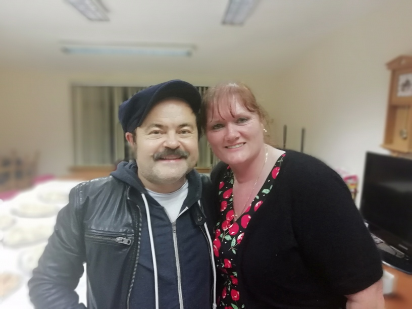 Tracy's Surprise……..Who are you!!  Ken Collard during his visit to Uist
