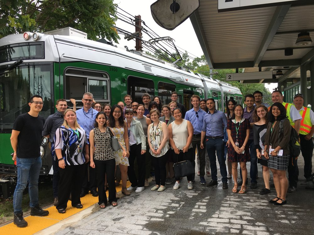 OPMI staff tours new Green Line trains