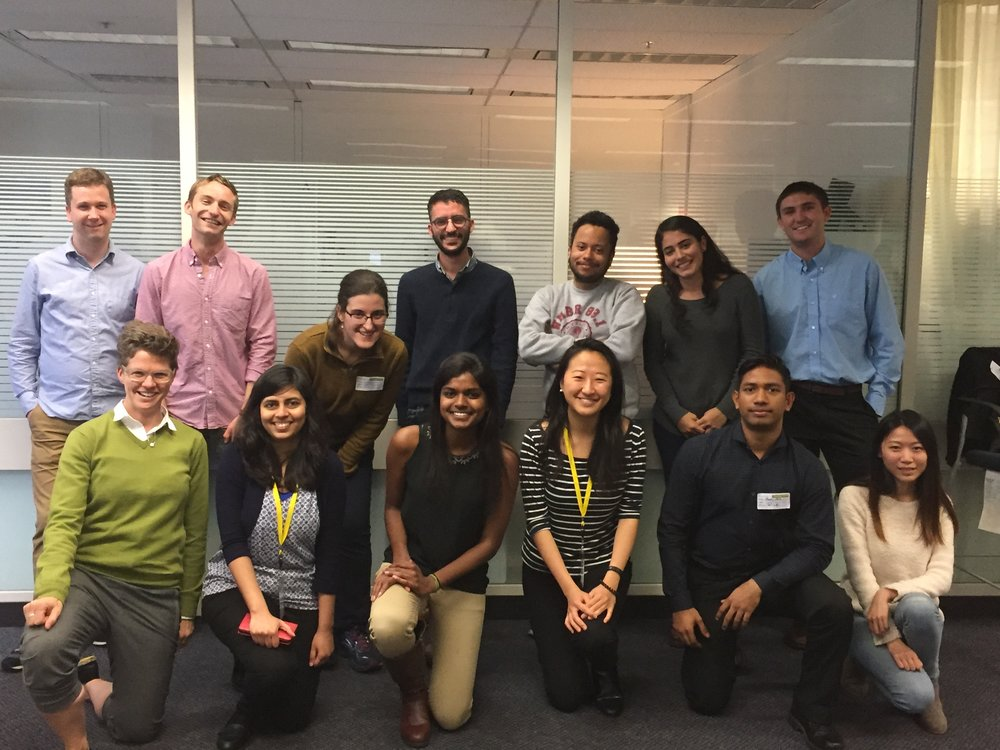 Group photo of previous OPMI interns