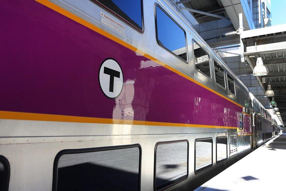 Bi-level Commuter Rail coaches at South Station. Photo credit: Keolis