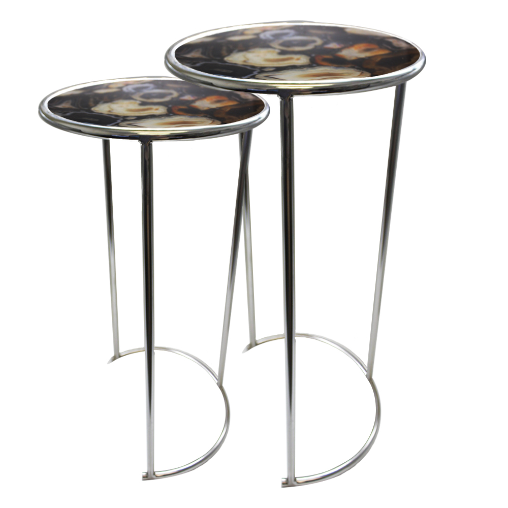 Black Agate Nesting Tables