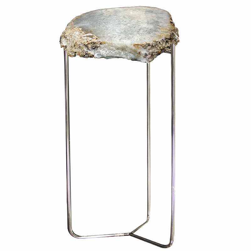 Natural Quartz Geode Table