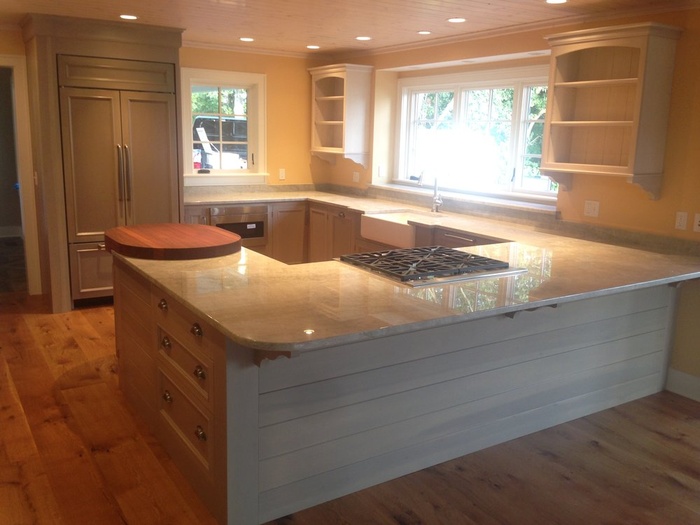 A Cottage Kitchen in Semi-Transparent Sage Lacquer, Quartzite Countertops, and Whitewashed Uppers 1.jpg