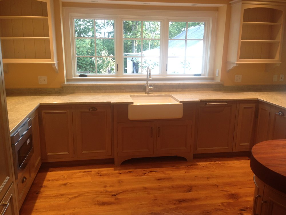 A Cottage Kitchen in Semi-Transparent Sage Lacquer, Quartzite Countertops, and Whitewashed Uppers 3.jpg
