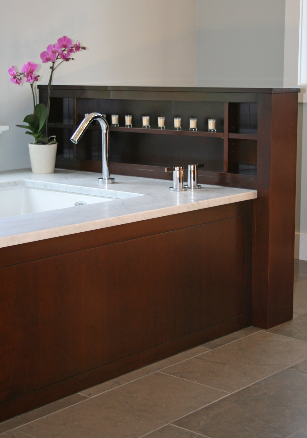 Contemporary Bathroom in Dark Cherry 2.jpg