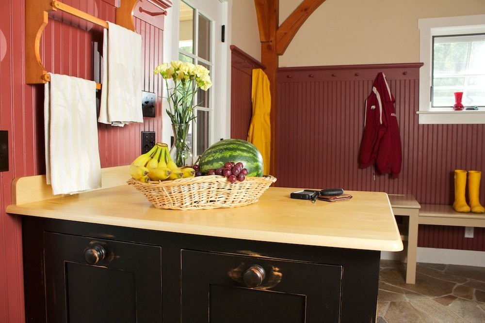 Farmhouse Mudroom with Recycle Center, Closets, Benches, and Hanging Pegs 6.jpg