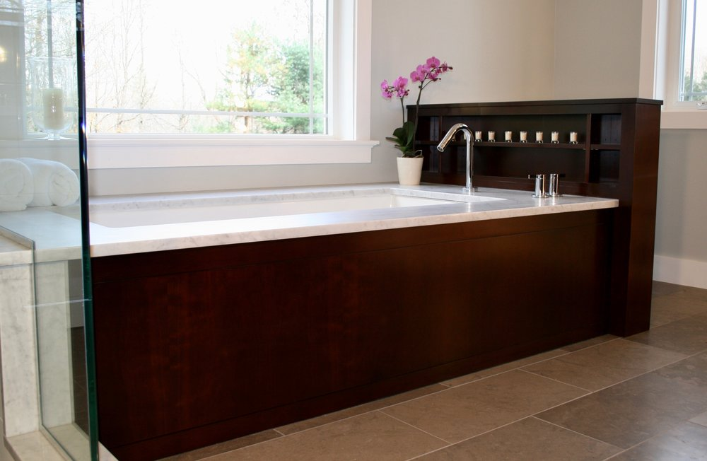 Contemporary Bathroom in Dark Cherry 1.jpg