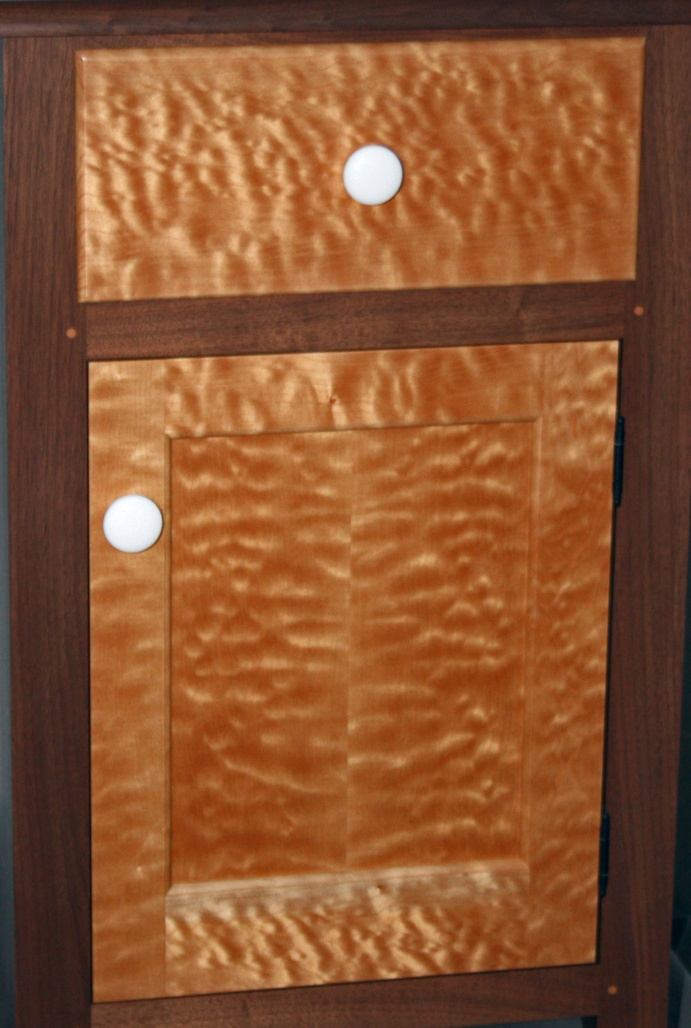 Shaker Style Walnut and Quilted Maple O ffice Suite  11.jpg