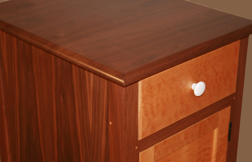 Shaker Style Walnut and Quilted Maple O ffice Suite  12.jpg