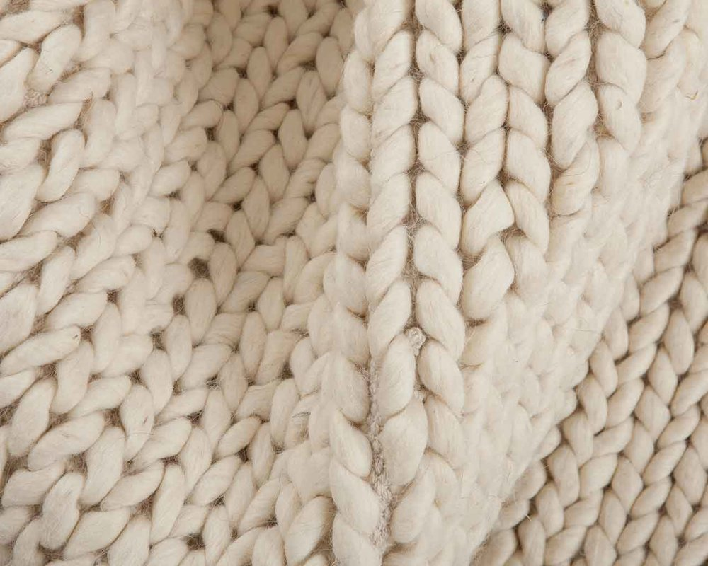 hvit-ull-tepper-håndlaget-india
