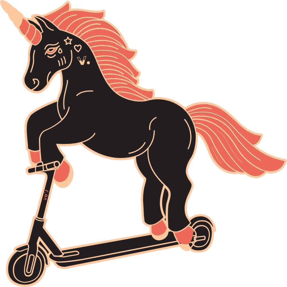 VOI Scooters - Ride the future - Unicorn
